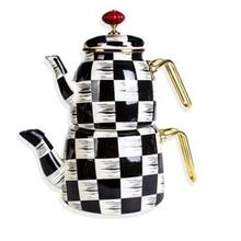 Teapot kettle teapots tea strainer chinese tea checkered enamel, hand painting special workmanship teapot tea kitc FREE SHİPPİNG