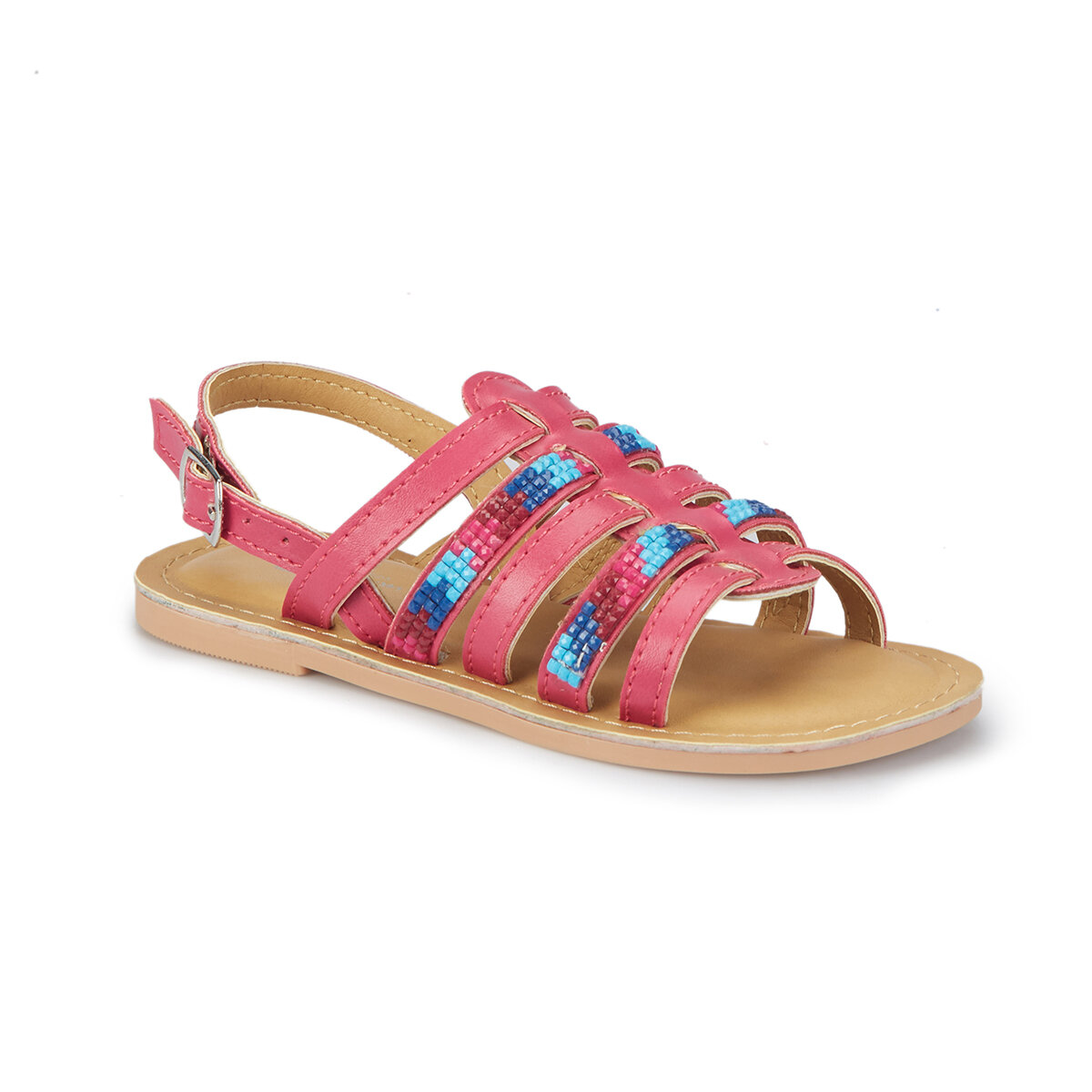 FLO ELONI Fuchsia Girls Child Sandals PINKSTEP