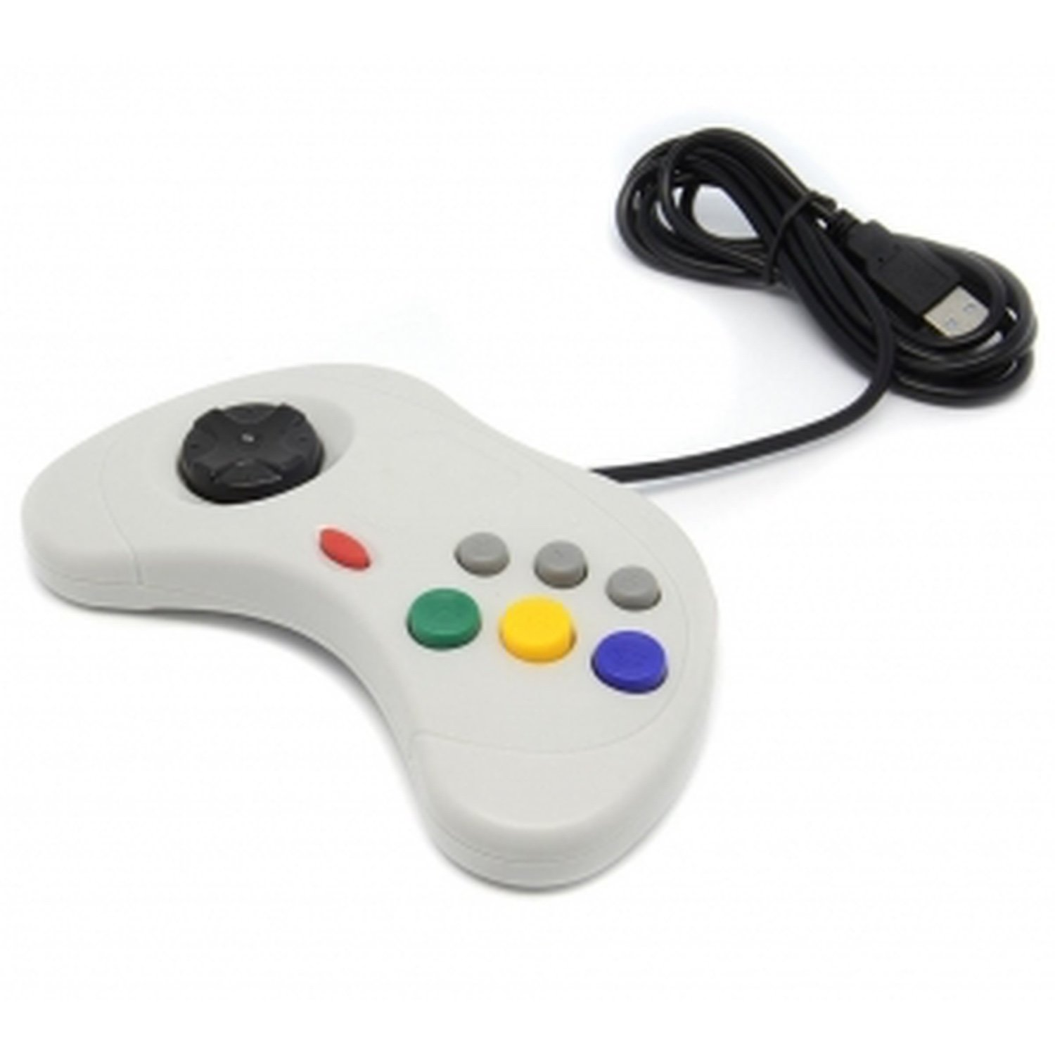 Gray Command Games Sega Saturn Style Pc Usb Controller For Pc AND Mac image