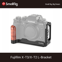 SmallRig X T3/X T2 L Bracket for Fujifilm X T3 and X T2 Camera Quick Release L Plate With Wooden Handle+Arca Dovetail Plate 2253