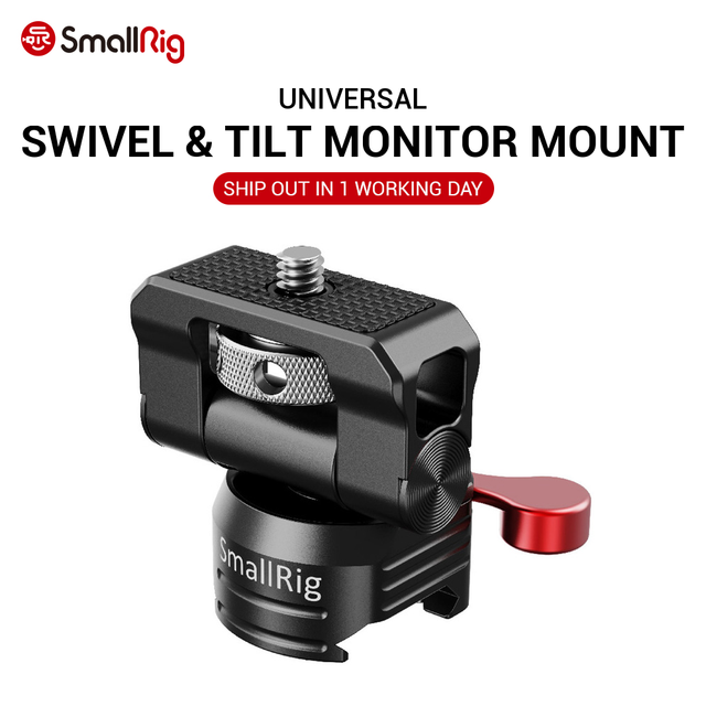 SmallRig Quick Release Kamera EVF Monitor Halter Swivel 360 grad & Tilt 150 grad Schwenkbare Monitor Montieren w/ Nato clamp 2347