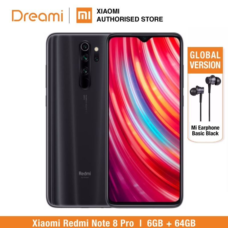 Global Version Xiaomi Redmi Note 8 PRO 64GB ROM 6GB RAM (LATEST ARRIVAL!!), Note8 Pro Smartphone Mobile