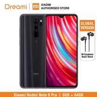 Versión Global Xiaomi Redmi Note 8 PRO 64GB ROM 6GB RAM, ROM Oficial (Nuevo y Sellado) note8 pro