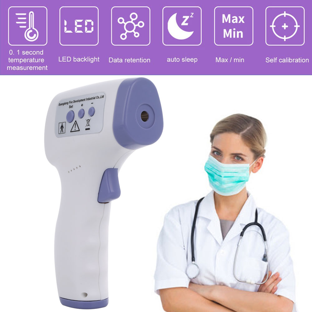Digital Non-contact Thermometer Infrared Forehead Thermometer Thermometer Gun for Body Measurement Multifunction Memory storage