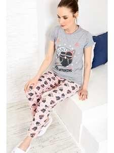 Trend Alacati Style Women Printed Pajamas set ALC-X3963