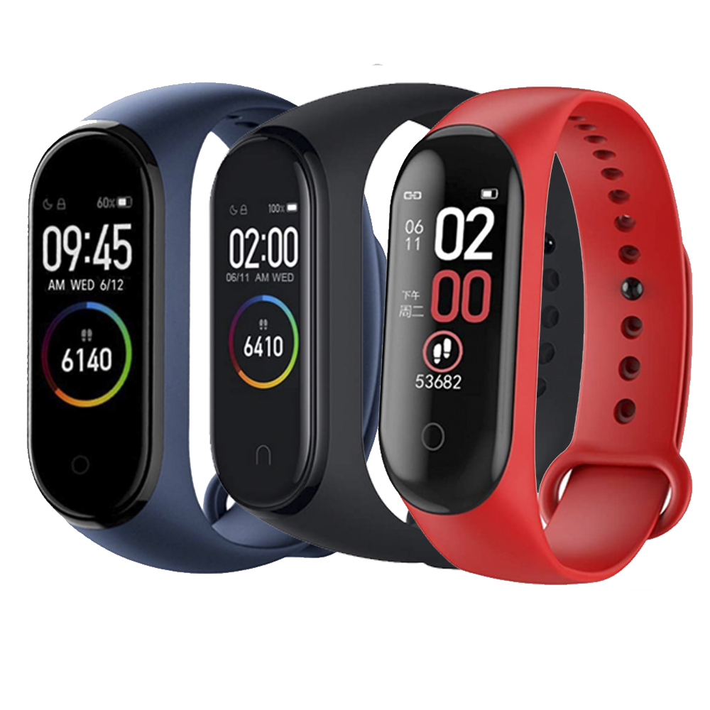 Smart Bracelet Man Woman Miband 4 Smartband Watch Offer 2 Bracetes Sport Health Fitness Blood Pressure Measurement