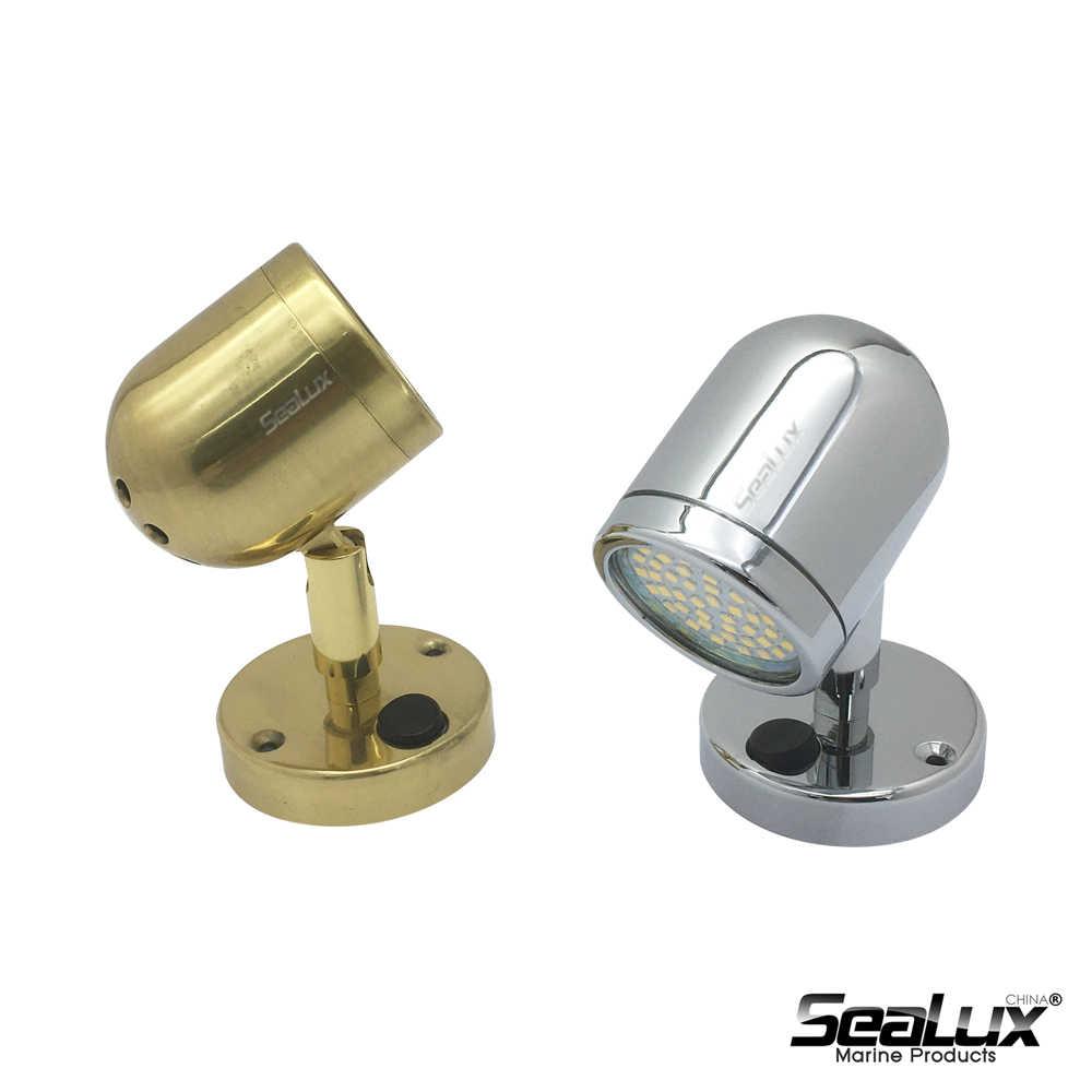 LED Brass Reading Light motorhome marine