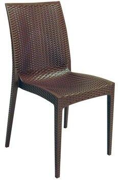 Chair RÓMULO, polypropylene chocolate brown