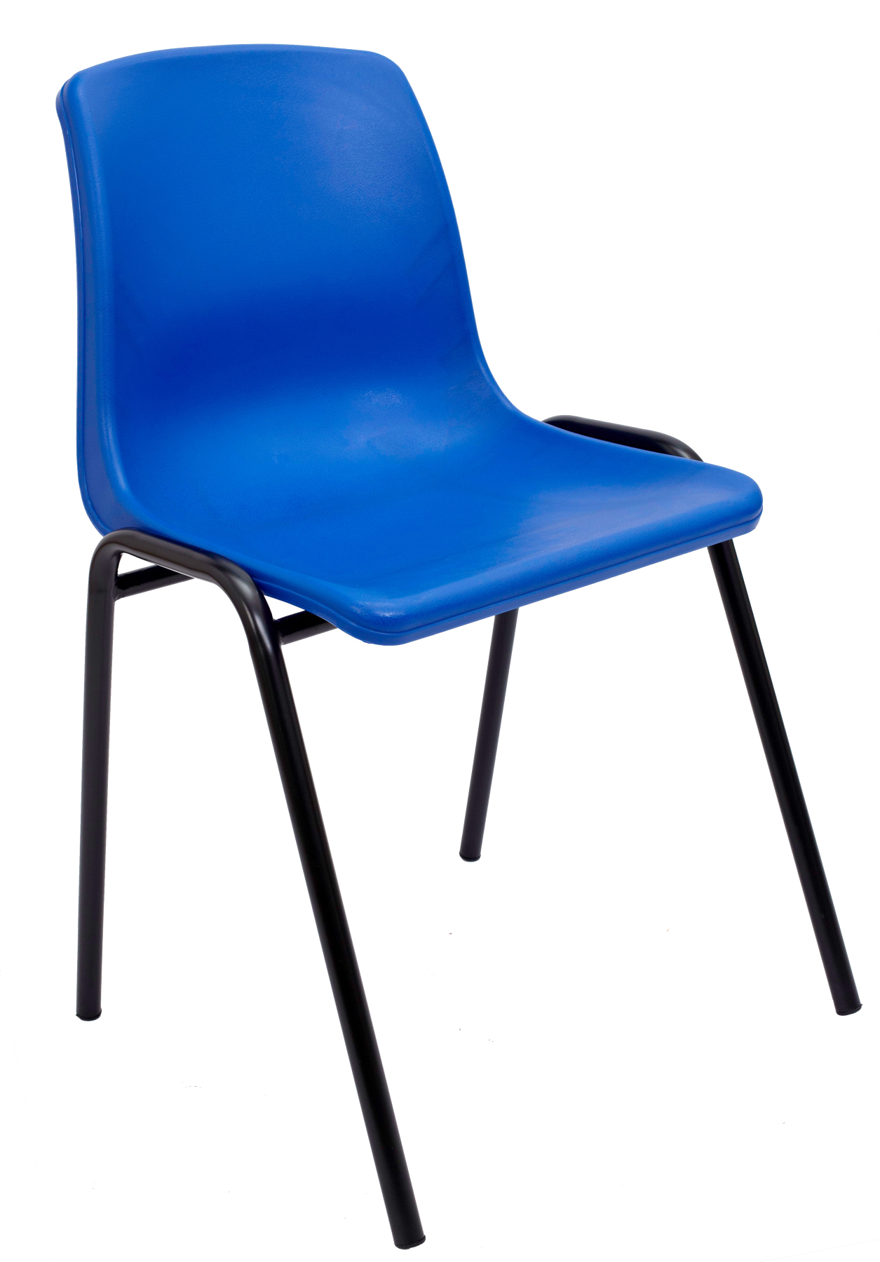 Visitor Chair Desk Ergonomic, Stackable And With Negro Up Seat And Backstop Structure PVC The Color Blue TAPHOLE AND CURLED