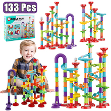 Educational-Toys Blocks Tracks Circuit-Marble Race Baby Maze Building-Pipe Run 133pcs