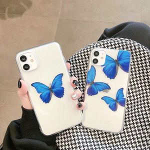 Image 4 - Cute Blue Butterflies Clear Phone Case for iPhone  11 Pro Max Xs XR  X 6 6s7 8 Plus Case soft tpu back cover case
