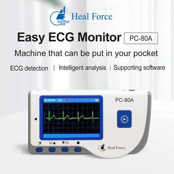 Uzdrowić życie łatwe holterowskie EKG Monitor gospodarstw domowych przenośne serca EKG ręczny Monitor pracy serca z kolorowy telewizor LCD ekran tanie i dobre opinie CHINA Elektroniczne urządzenie do pomiaru tętna Palm