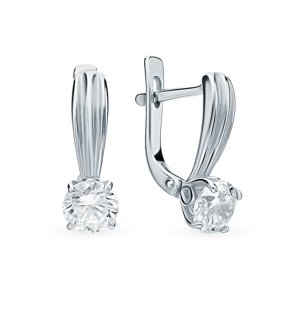 Silver Earrings With Cubic Zirconium Sunlight Sample 925