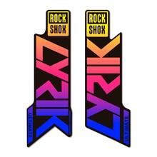Juego de Adhesivos en Vinilo para Horquillas de Bicicleta Rock shox 2020 LYRIK ULTIMATE GRADIENT | Pegatinas para Bici