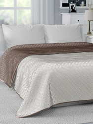 Bedspread on bed