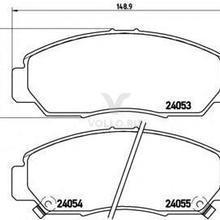 BREMBO Колодки тормозные дисковые передн HONDA: FR-V(BE) 05