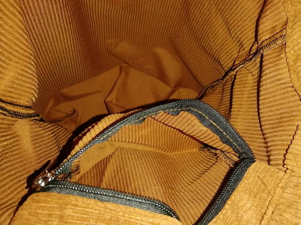 Women's Corduroy Shopper Bag With Interior Zipper Pocket photo review