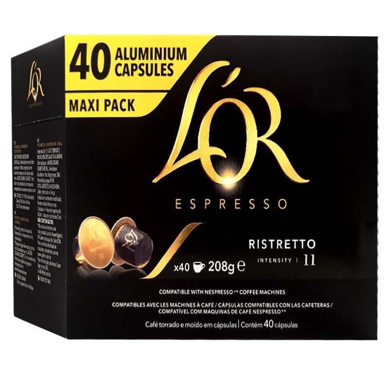 Ristretto L 'or, 40 compatible Nespresso Maxi Pack capsules®