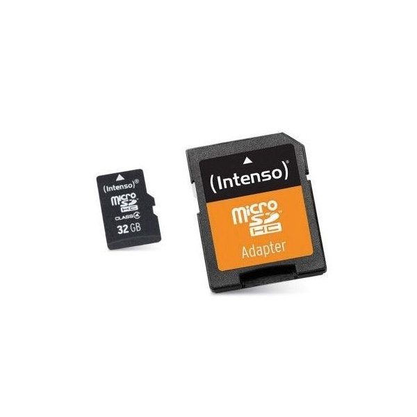 Micro SD Memory Card With Adaptor INTENSO 3413480 32 GB Class 10