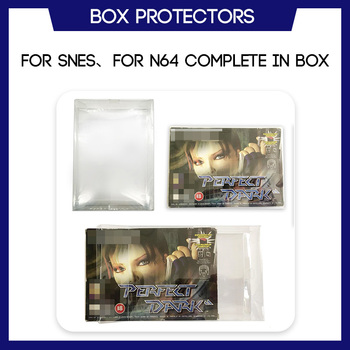 Box Protector For SNES For N64 CIB Complete In Box Games Custom Made Clear Plastic Case 1