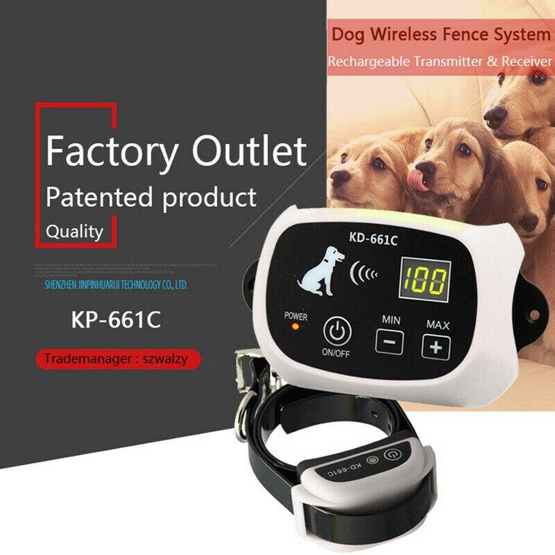 Электронный ошейник для собак для ограждения, система удержания, водостойкий забор с 1 ошейником 100g2280 - 2