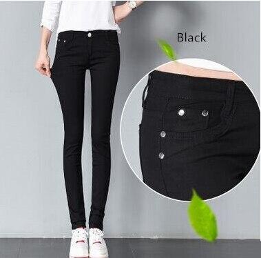 SIL985 Spring & Autumn Pencil Pants For Women Skinny Femme a001 Trousers Color Solid Slim Female Pants Plus Size Capris