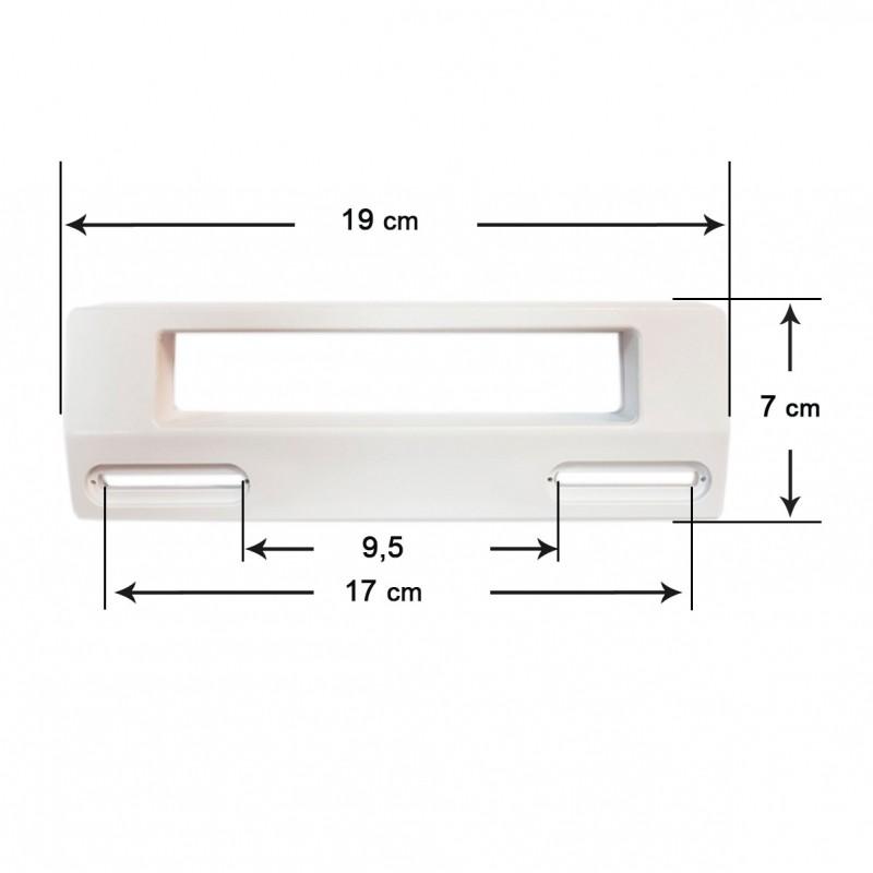 بويرتا الأبيض مقبض الباب درج الثلاجة العالمي 19x7 سم (المسافة بين خارج الثقوب 9,5-17 سنتيمتر)