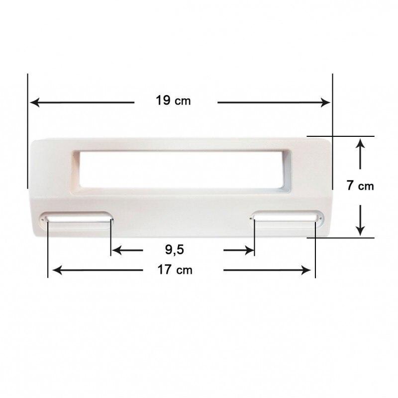 Puerta Witte knop lade Koelkast Universele 19x7 cm (Afstand tussen out gaten 9,5-17 cm)
