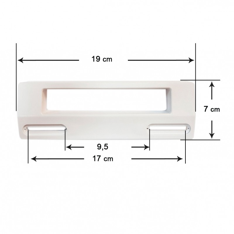 Shooter White Door Refrigerator Universal 19x7 Cm (Distance Between Holes 9,5 To 17 Cm)