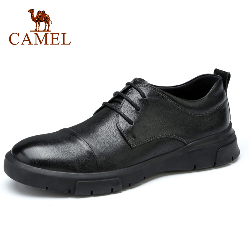 CAMEL  New Men's Shoes Genuine Leather Autumn Business Casual Office Travel Natural Leather Shoes Man Simple Flats