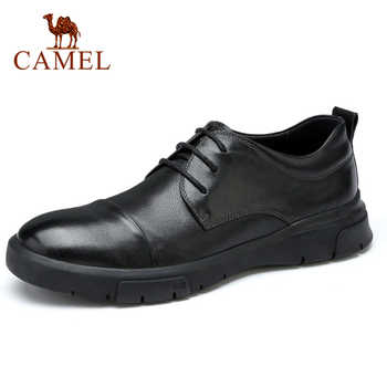 CAMEL  New Men's Shoes Genuine Leather Autumn Business Casual Office Travel Natural Leather Shoes Man Simple Flats - DISCOUNT ITEM  15% OFF All Category