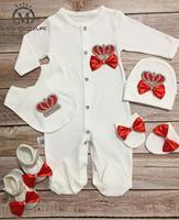 MIYOCAR/красная одежда для новорожденных  украшенная стразами  на возраст от 0 до 6 месяцев детская одежда из хлопка цельный купальник  Детская ш...