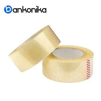 Cinta adhesiva, cinta de embalaje. ¿Cinta adhesiva? La cinta está pegajosa. Cinta adhesiva Ancho 50mm. 66 metros, 43 micras. ¡Bankonika! Paquete de 2 rodillos.