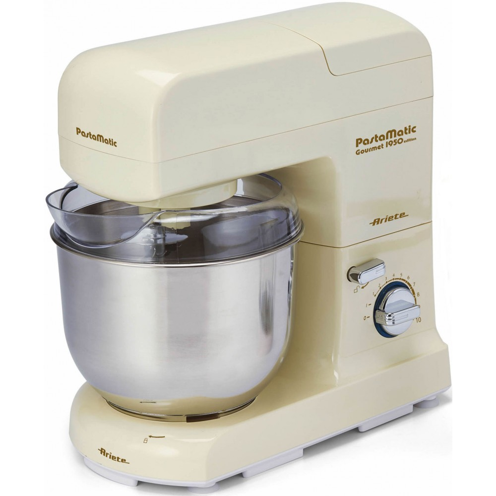 Mixer Ariete 1596/1 in (1500 W, 10 speeds bowl stainless steel. Steel, 4l, ext. Glass blender 1.5l) mixer ariete 1594 00 in 650 w 6 speed bowl 4 l stainless steel