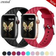 Силиконовый ремешок для apple watch 5 ремешок 44 мм 40 мм iwatch ремешок 42 мм 38 мм тканый узор браслет ремешок для apple watch 4 3 21 38