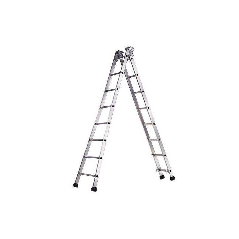 Aluminum Stair Ndustrial Pronor 2 Sections 12 + 12 Rungs