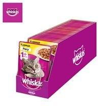 Влажный корм для кошек Whiskas рагу с курицей, 28 шт по 85г