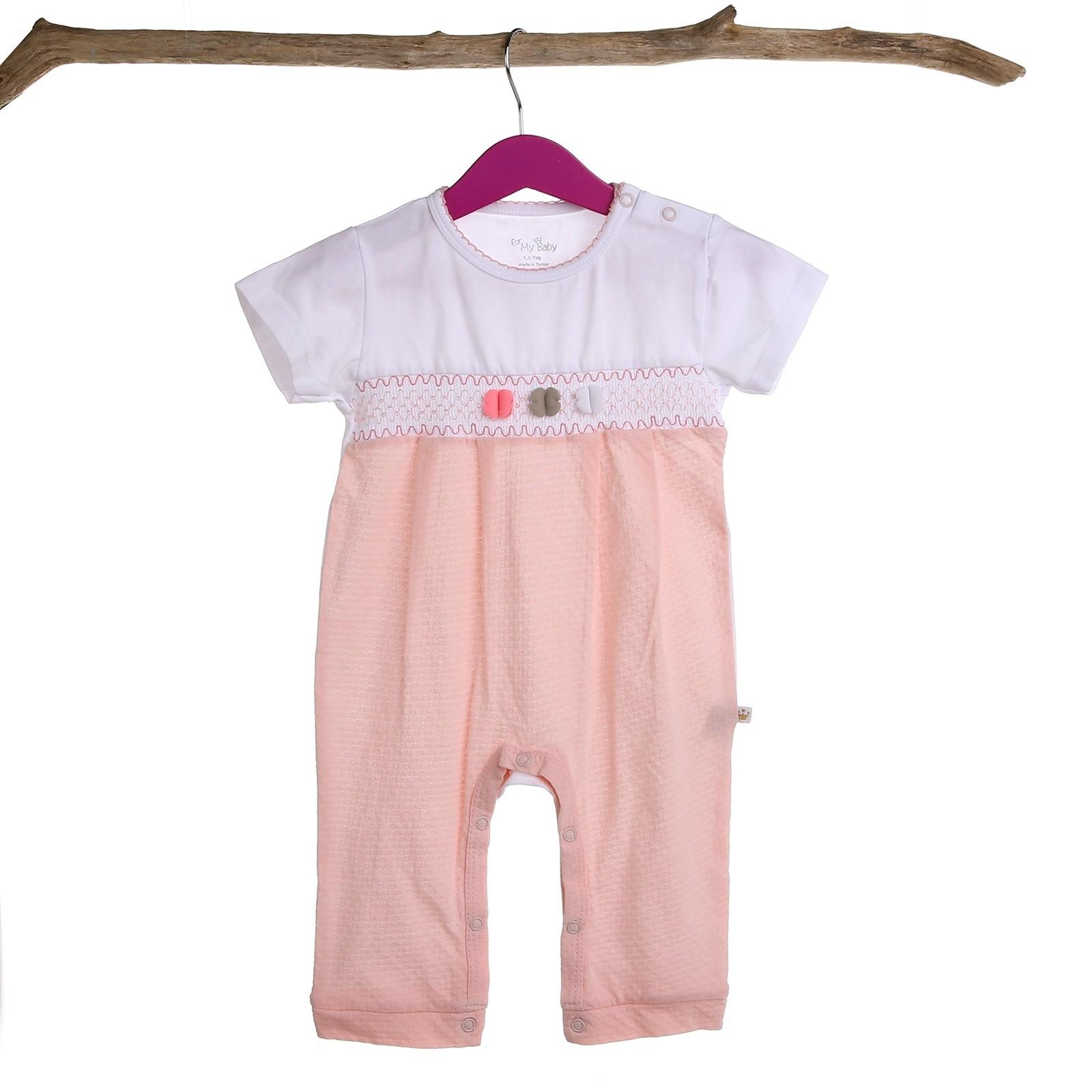 Ebebek For My Baby Anarosa Girl Rib Short Sleeve Romper