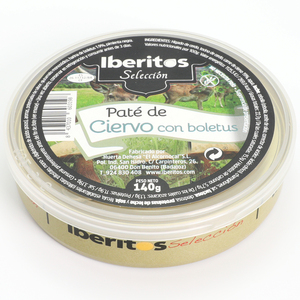IBERITOS-canned pate de Deer with Boletus - 140 G Deer with BOLETUS