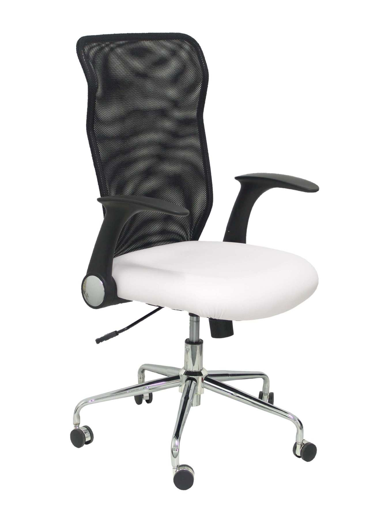 Ergonomic Office Chair With Mechanism Rocker, Arms Retractable And Adjustable Height-Backing Mesh Tra