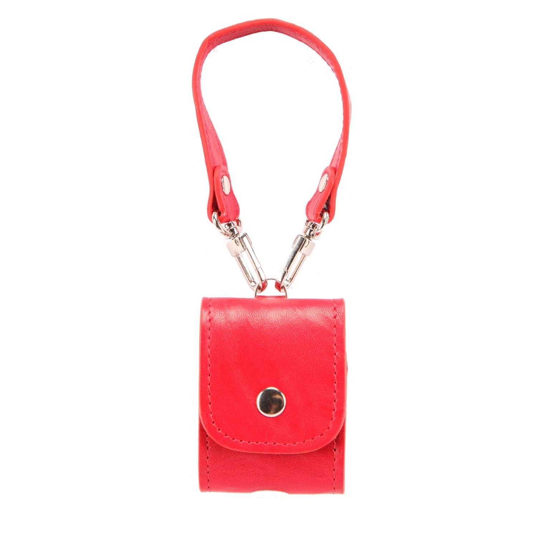 Натуральная кожа-аксессуары Airpods-защитный-Чехол Apple Airpods красный