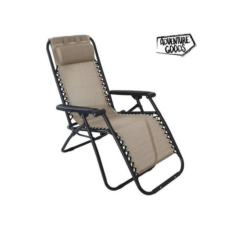 Lounger Adventure Goods 98530 (110x73x67 Cm) Beige
