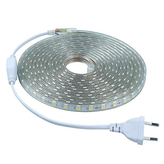 Tira LED SMD 2835 · Tiras LED Flexibles Impermeables IP67 Chip LED 2835 con transformador