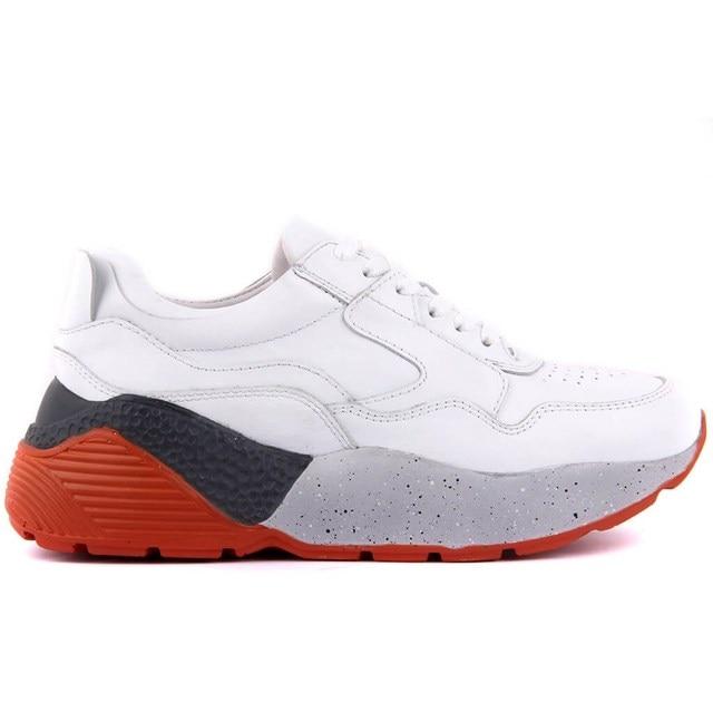 Sail lakers sapatos esportivos casuais femininos de couro branco