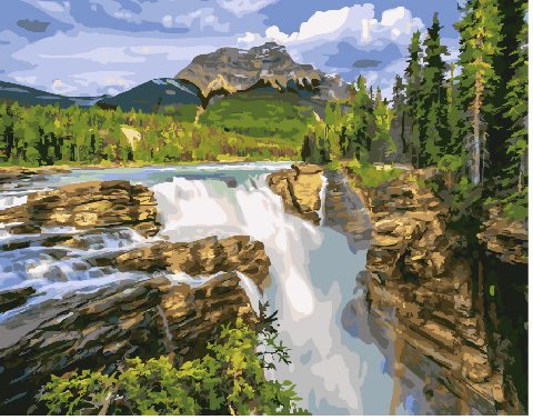 Painting By Numbers GX 29178 Mountain Stream 40*50