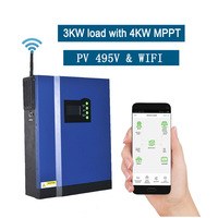 3KVA 3000W Pure Sine Wave Off Grid Hybrid Solar Inverter With Built in 4000W MPPT Controller WIFI APP Control