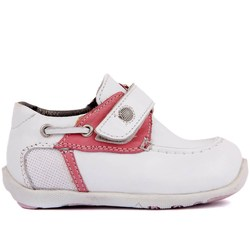 Sail-Lakers White Leather Baby Shoe