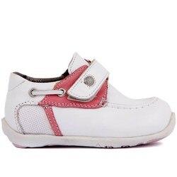 Segel-Lakers Weiß Leder Baby Schuh