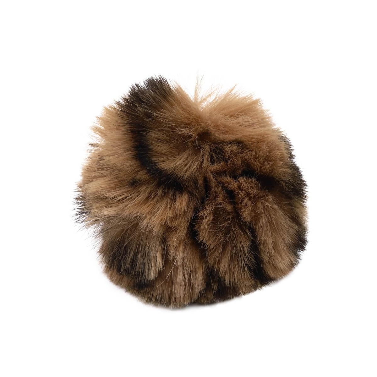 Ar528 Pompon Artificial Fur, Leopard, 5 Cm 2 Pcs/pack (beige)