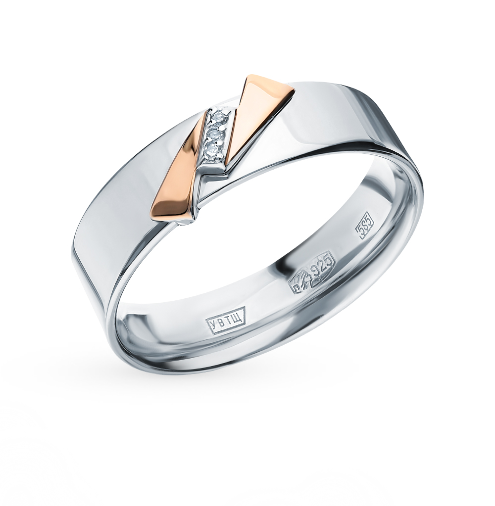 Silver Ring With Diamonds SUNLIGHT Test 925